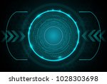 digital pattern technology... | Shutterstock .eps vector #1028303698