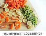 fresh fruits which high... | Shutterstock . vector #1028305429