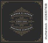 ornament logo design template... | Shutterstock .eps vector #1028307838
