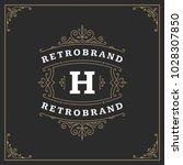 ornament monogram logo design... | Shutterstock .eps vector #1028307850