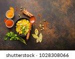 biryani rice  traditional... | Shutterstock . vector #1028308066