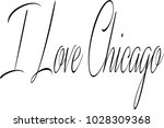 i love chicago text sign... | Shutterstock .eps vector #1028309368