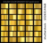 golden gradient vector set.... | Shutterstock .eps vector #1028314468