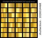 golden gradient set. vector... | Shutterstock .eps vector #1028314468