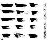 grunge ink brush strokes set.... | Shutterstock .eps vector #1028315353