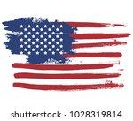 grunge flag of usa | Shutterstock .eps vector #1028319814