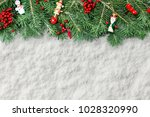 decorative background with fir... | Shutterstock . vector #1028320990