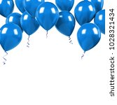 blue baloons on the upstairs... | Shutterstock . vector #1028321434