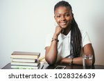 african american young woman... | Shutterstock . vector #1028326639