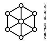 blockchain node line icon. ... | Shutterstock .eps vector #1028328550
