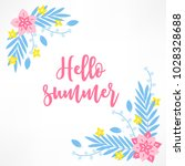 summer greeting card with palm...   Shutterstock .eps vector #1028328688