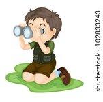 Illustration Of Boy Using...