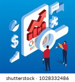 isometric data research and... | Shutterstock .eps vector #1028332486