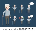 older man character. aged... | Shutterstock .eps vector #1028332513