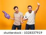 portrait of a two excited young ... | Shutterstock . vector #1028337919