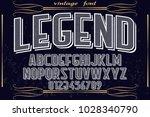 vintage font typeface... | Shutterstock .eps vector #1028340790