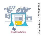 e mail marketing  mailing  news ...   Shutterstock .eps vector #1028347336
