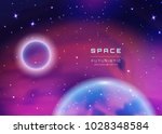 space galaxy background with... | Shutterstock .eps vector #1028348584