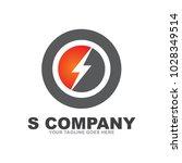 s letter logo design vector... | Shutterstock .eps vector #1028349514