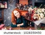 photo of caucasian florist...   Shutterstock . vector #1028350450