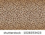 leopard texture  brown beige... | Shutterstock . vector #1028353423