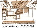 the vector of showroom... | Shutterstock .eps vector #1028353609