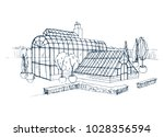 freehand sketch of exterior of... | Shutterstock .eps vector #1028356594