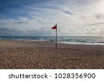 playground on the empty beach... | Shutterstock . vector #1028356900