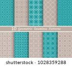set of seamless line patterns.... | Shutterstock .eps vector #1028359288