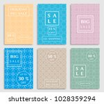 sale banners  flyers with... | Shutterstock .eps vector #1028359294