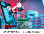 scientific and healthcare... | Shutterstock . vector #1028360500