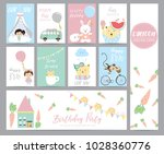 blue pink pastel greeting card...   Shutterstock .eps vector #1028360776