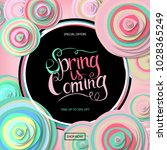 spring sale banner with paper... | Shutterstock .eps vector #1028365249