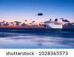 big cruise liner in... | Shutterstock . vector #1028365573
