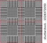 symmetric checkered hounds...   Shutterstock .eps vector #1028372050