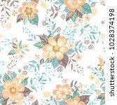 floral seamless pattern. flower ...   Shutterstock .eps vector #1028374198
