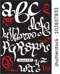 vector white gothic alphabet | Shutterstock .eps vector #102837833