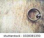 classic antique oak wood door... | Shutterstock . vector #1028381350