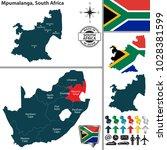 vector map of mpumalanga...   Shutterstock .eps vector #1028381599