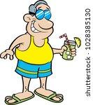 cartoon illustration of a man... | Shutterstock .eps vector #1028385130
