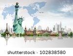 travel concept  liberty... | Shutterstock . vector #102838580