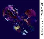 abstract vector background dot... | Shutterstock .eps vector #1028386198