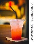 drink soda juice strawberry put ...   Shutterstock . vector #1028389870