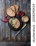 home made chicken liver pate or ... | Shutterstock . vector #1028390419