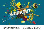 colorful attractive 3d rendered ... | Shutterstock . vector #1028391190