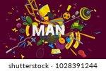 attractive 3d rendered... | Shutterstock . vector #1028391244