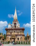 pagoda in buddhist temples of... | Shutterstock . vector #1028391724