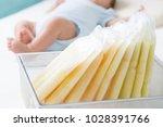 breast milk frozen in storage... | Shutterstock . vector #1028391766