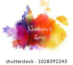 abstract painted splash shape... | Shutterstock .eps vector #1028392243