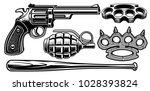 set of black and white... | Shutterstock .eps vector #1028393824